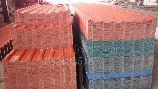 莞仿古树脂瓦 PVC塑料瓦 屋顶琉璃瓦图片