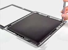 深圳IPAD3表面触摸屏玻璃屏裂了,更换一块苹果触摸屏多少钱