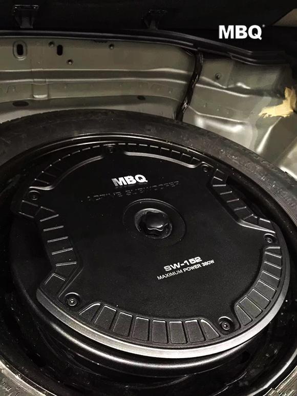 顺德汽车音响改装MBQ低音炮 你的轮毂备胎位还在闲置中吗高清图片