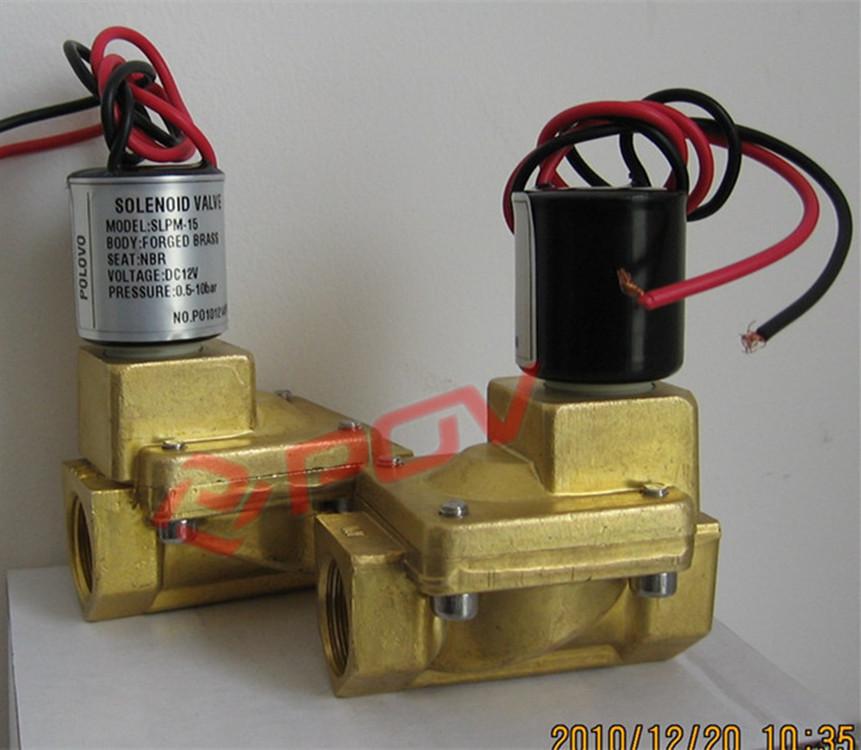 先导式螺纹脉冲电磁阀黄铜材质图片