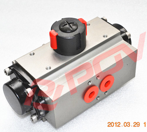 三位二段式气动执行器0-45-90/0-90-180图片