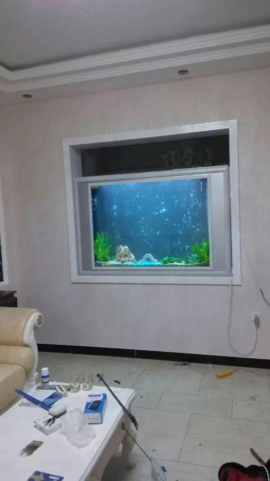 鱼缸隔断墙效果图大全