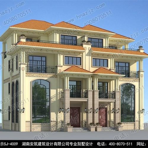 四川专业三层连体别墅设计图纸及效果图_湖南安筑建筑