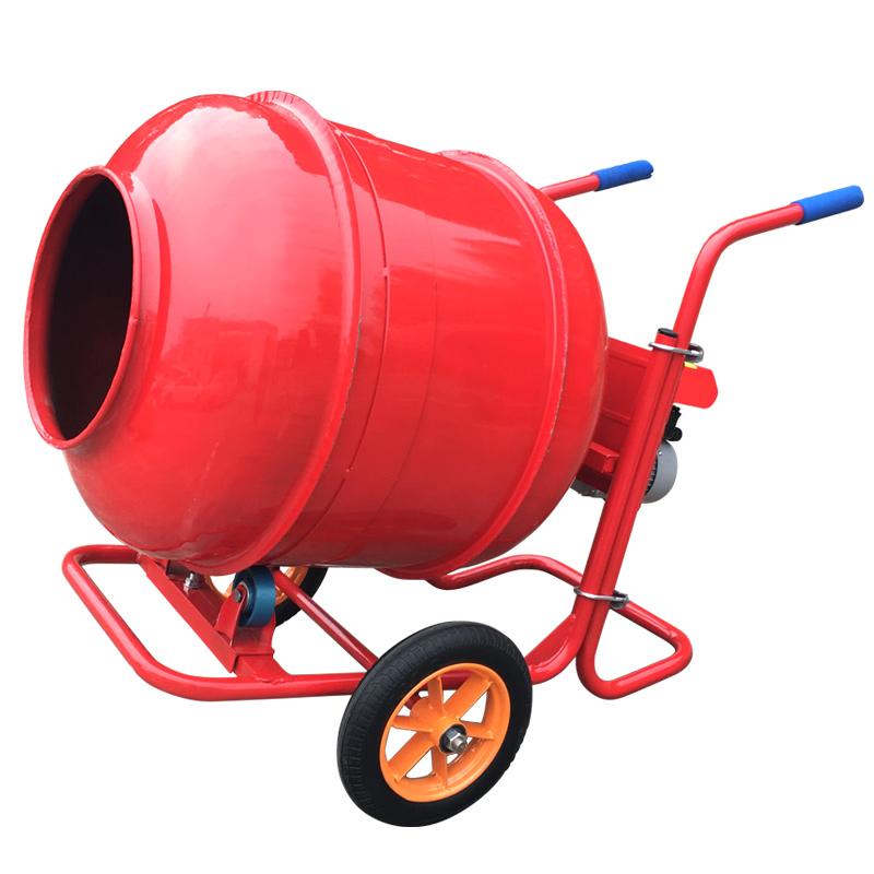 移动方便小型水泥搅拌机属于混凝土搅拌机,可搅拌干硬性,塑性