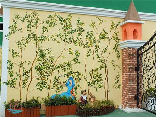 幼儿园墙体手绘还适合于幼儿培训机构,宠物店,图书馆,儿童服装店,商场
