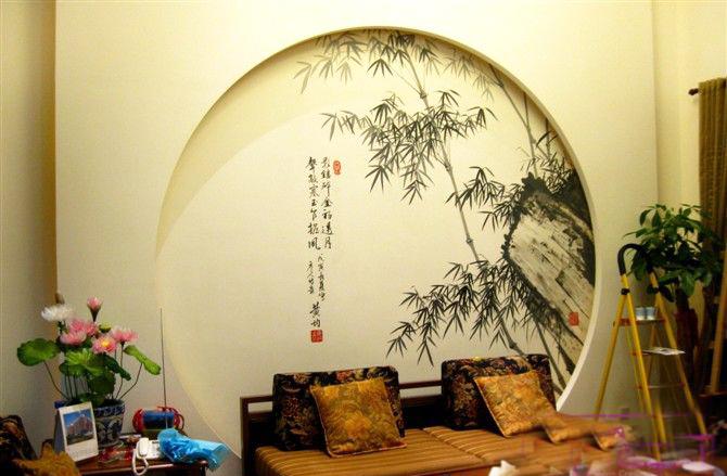 崂山区手绘墙●崂山区手绘电视墙●崂山区手绘背景墙
