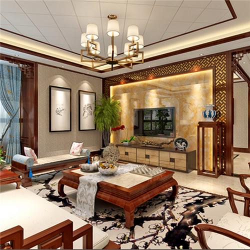 中式沙发搭配欧式墙板