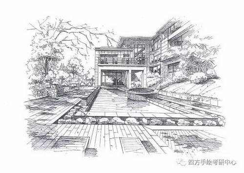建筑手绘 黑白 (1)