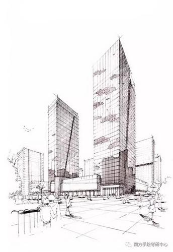 建筑手绘 黑白 (3)