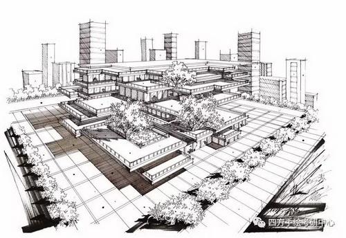 建筑手绘+黑白 (7)