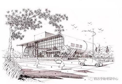建筑手绘+黑白 (6)