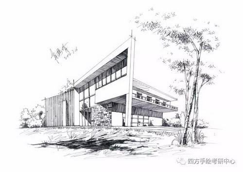 建筑手绘+黑白 (2)