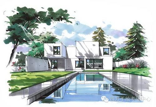建筑手绘 马克笔 (3)