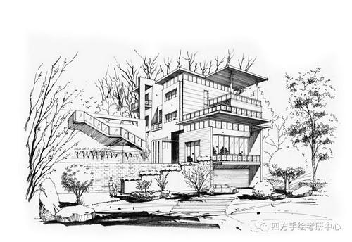 建筑手绘+黑白 (9)