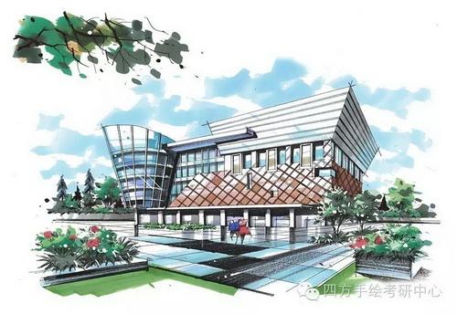 建筑手绘+马克笔 (2)