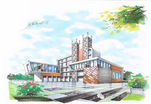 重庆建筑手绘培训【四方手绘】风景园林专业培