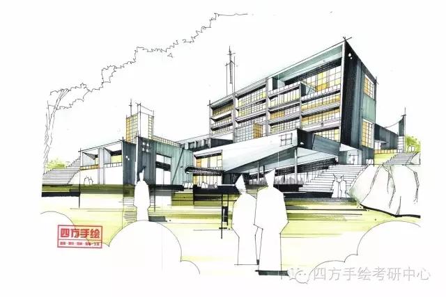 重庆建筑手绘快题培训,四方手绘详细解读建筑快题内容