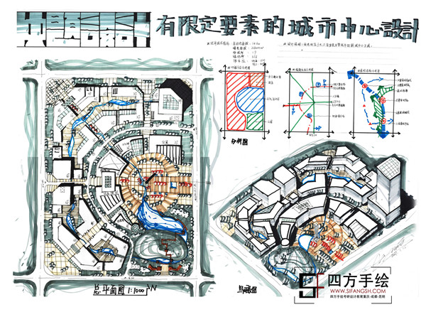 重庆大学城市规划考研快题培训四方手绘值得选