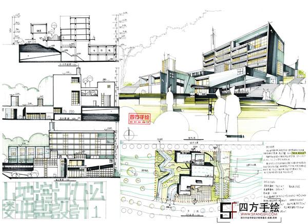 2017建筑手绘培训四川美术学院考研快题培训