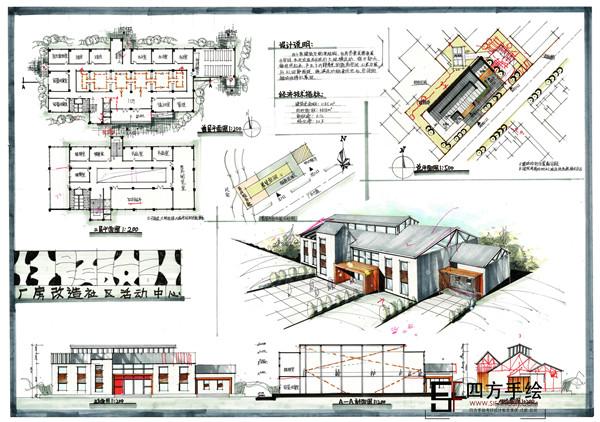 成都建筑手绘培训报名-四方手绘 适合你的设计教程