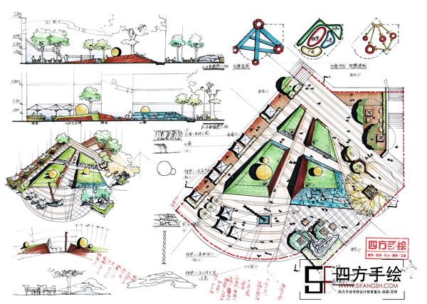 四方手绘园林快题 (1)