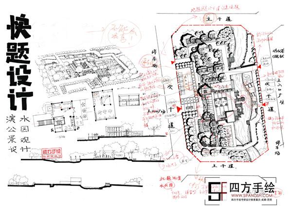 四方手绘已成为一家建筑学,城市规划,风景园林,环艺室内,工业设计等