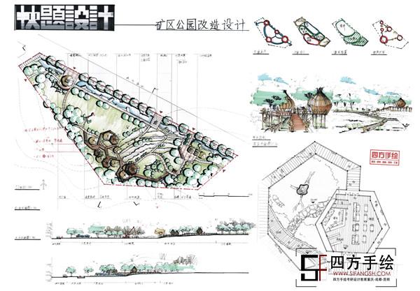 四方手绘已成为一家建筑学,城市规划,风景园林,环艺室内,工业设计等设
