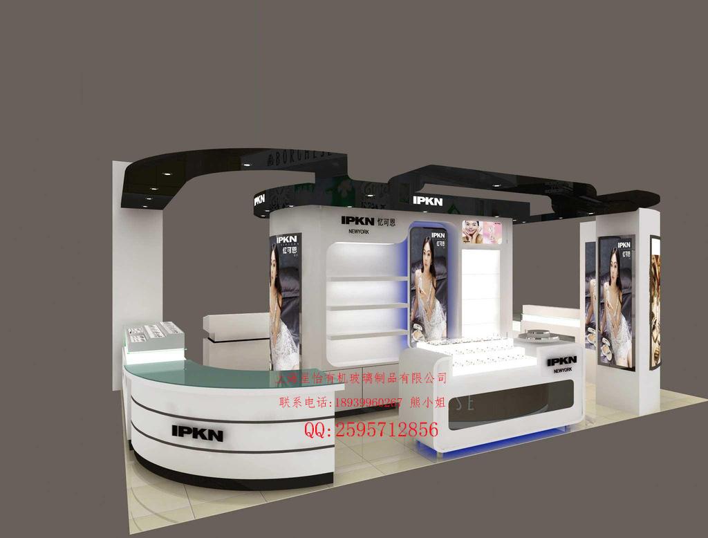 供应上海有机玻璃化妆品展示架 进口亚克力材料化妆品展示架