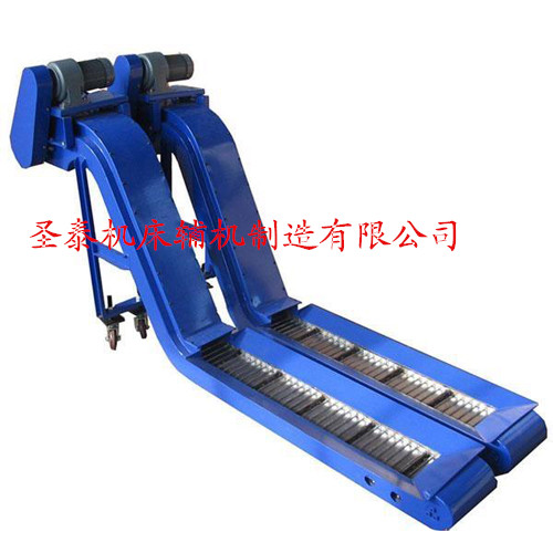 专业生产链板式排屑机;本排屑装置是将机械加工过程中切削下来的