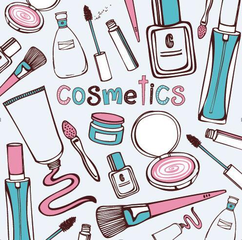 化妆品卡通图