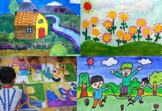 采用生动活泼的教学方式把孩子引入更专业的绘画创作中来,着力培养
