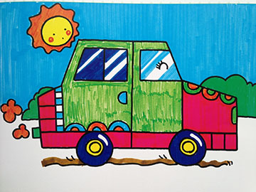 手绘卡通空调彩色