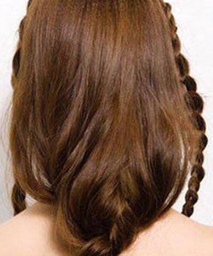 长发变短发编织的扎法分享展示