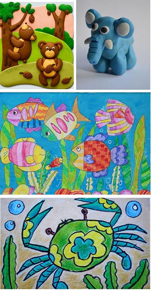 儿童画是现实和理想的结合,充满了想象力