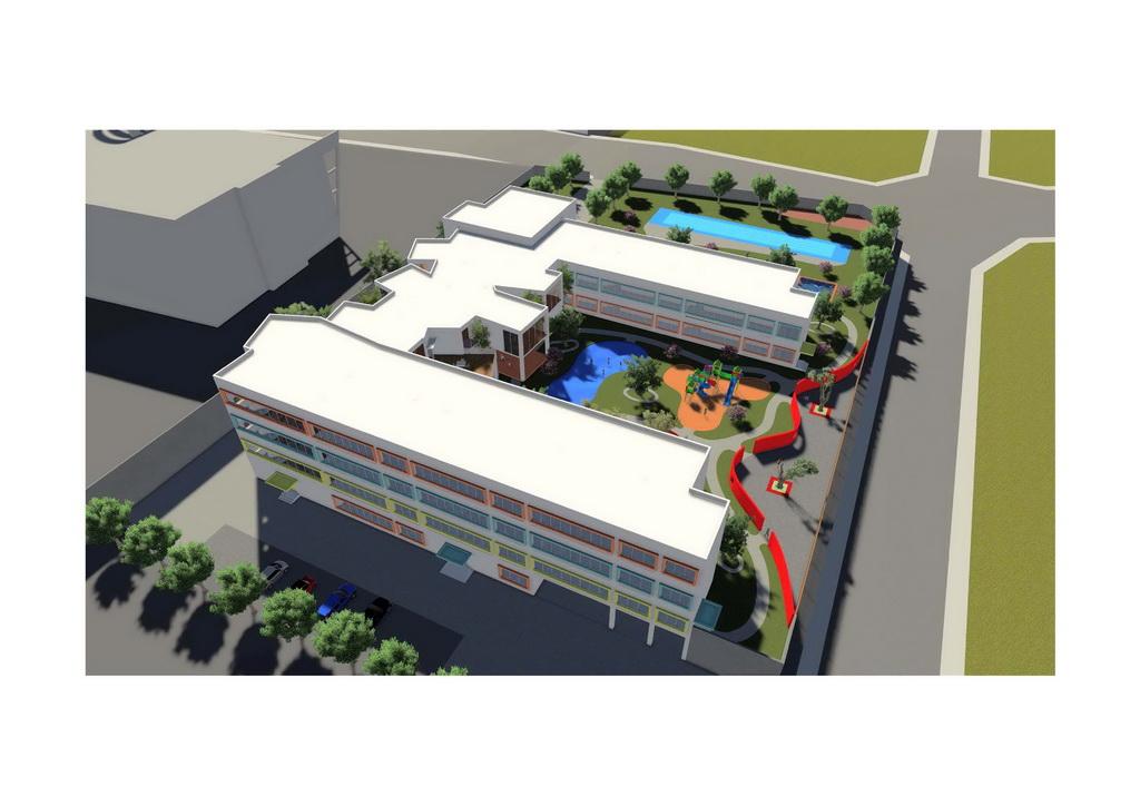 (2)幼儿园建筑的造型设计应与所在居住小区或居住区的建筑风格统一