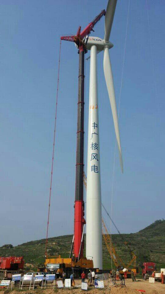 江苏如东风电场完成首期吊装-上海煜成建筑机械安装工程有限公司