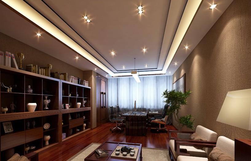 川成都市最好的现代中式办公室装修设计 成都专业办公室装修纹鼎装高清图片