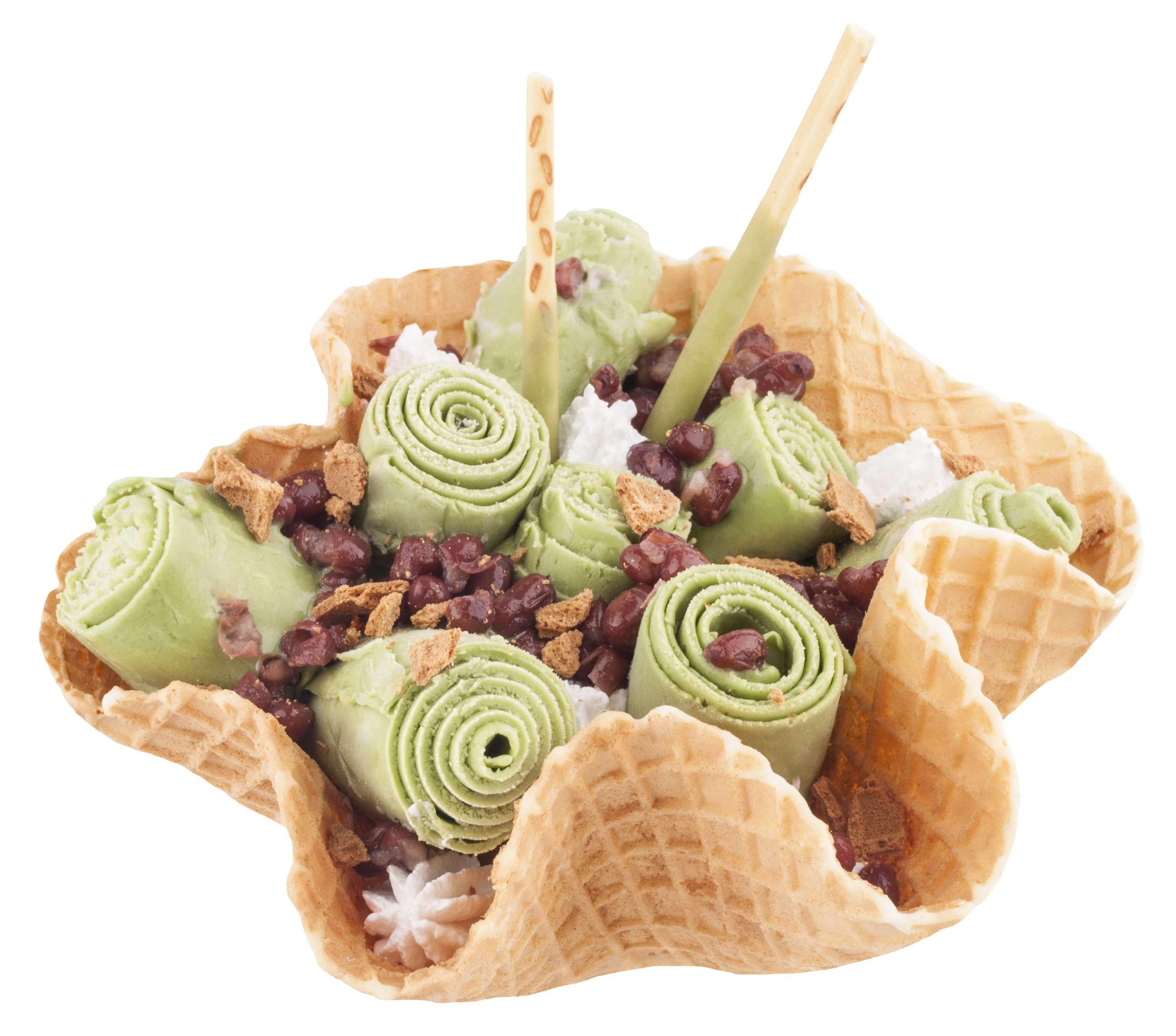 卷起来吃的冰淇淋,健康美味养颜低脂