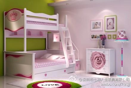 儿童房子母床