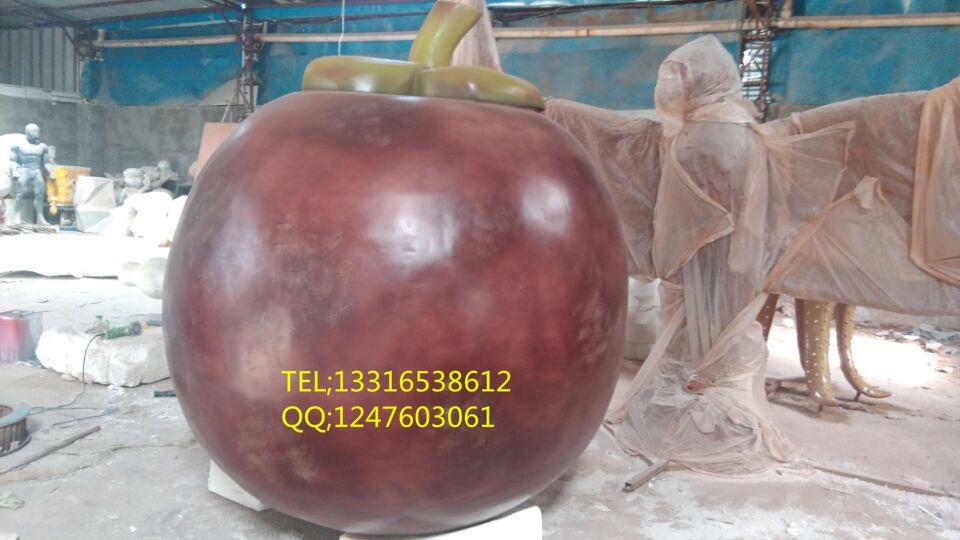 【大批量创意玻璃钢水果造型雕塑-玻璃钢柚子雕塑