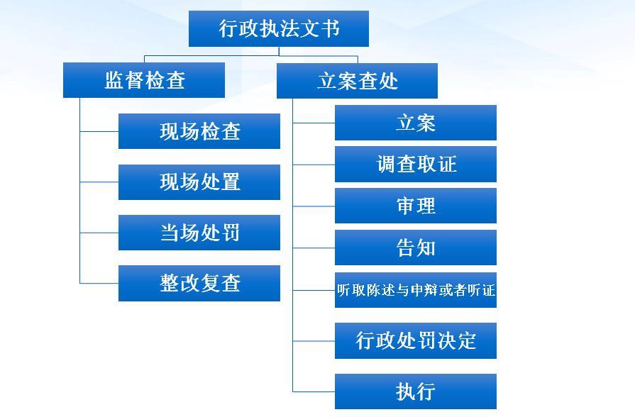 对监督检查文书与立案查处文书的每个步骤分别提供了规范的文书格式以