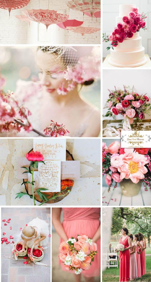 夏季主题婚礼的色彩搭配