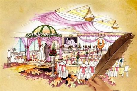 珠宝店手绘图片