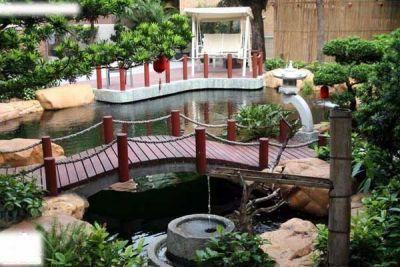 承接假山鱼池,入户花园,别墅