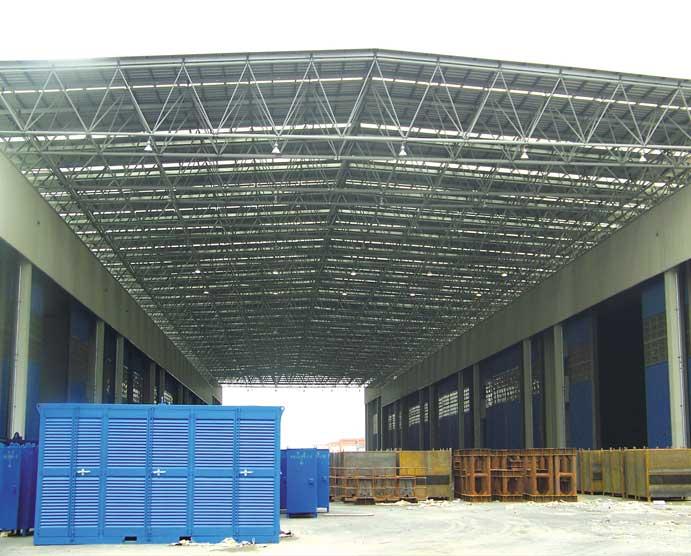 网架钢结构表面处理:抛丸,喷沙除锈,喷锌,喷 铝,喷塑等工艺施工!
