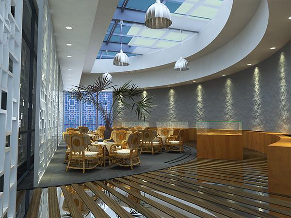 厂房建筑外观效果图 某商场中庭效果图以及一公司休息区效果图
