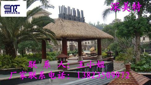 河北PE茅草,PVC塑料茅草厂家图片