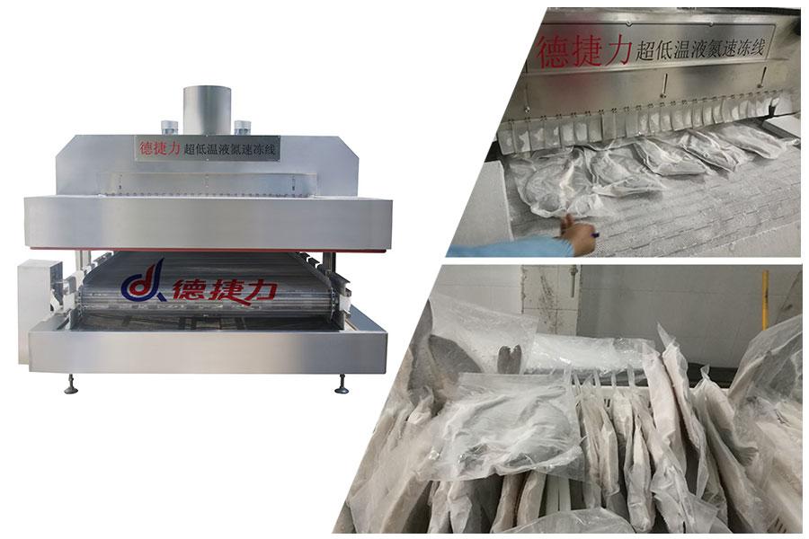 买液氮速冻机 超低温-196度液氮作为冷媒 速冻机生产厂家