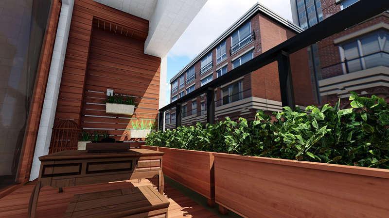防腐木户外阳台设计安装示例图.