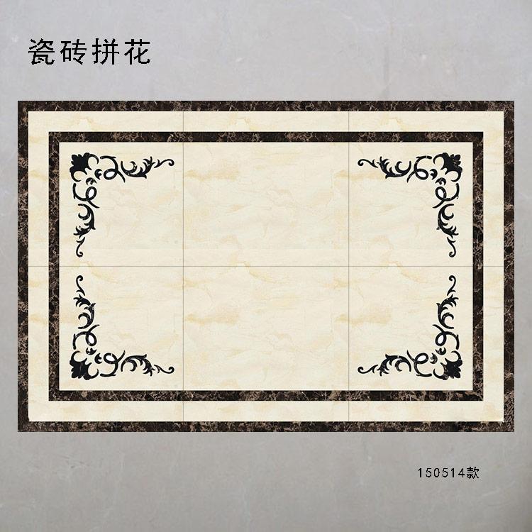 拼花效果图 客厅地砖铺贴效果图 过道地砖拼花效图片